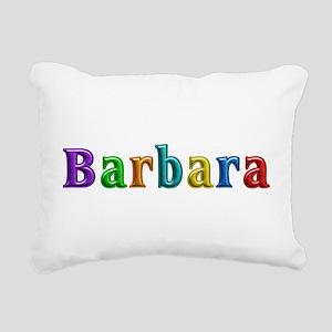 Barbara Shiny Colors Rectangular Canvas Pillow