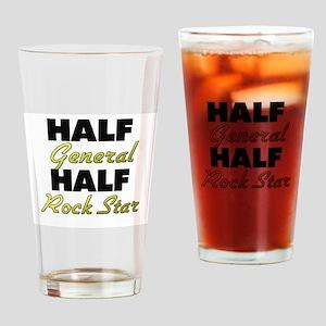 Half General Half Rock Star Drinking Glass