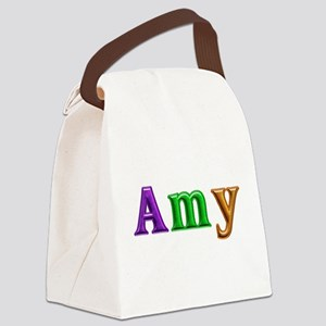 Amy Shiny Colors Canvas Lunch Bag