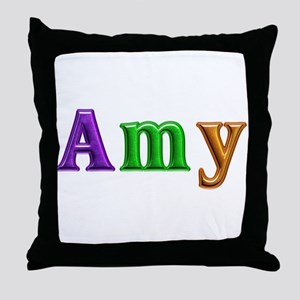 Amy Shiny Colors Throw Pillow