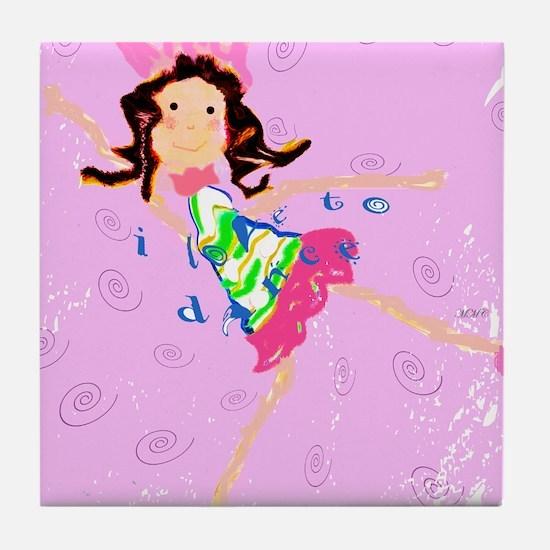 Sweet Ballerina Dancer Tile Coaster