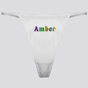 Amber Shiny Colors Classic Thong