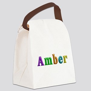 Amber Shiny Colors Canvas Lunch Bag