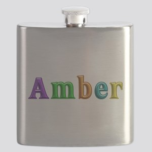 Amber Shiny Colors Flask