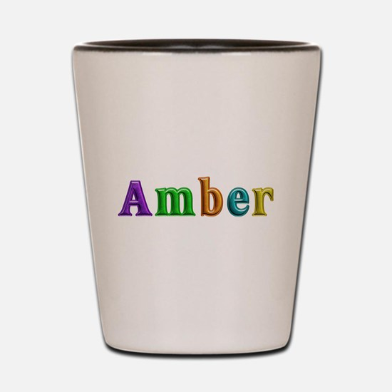 Amber Shiny Colors Shot Glass