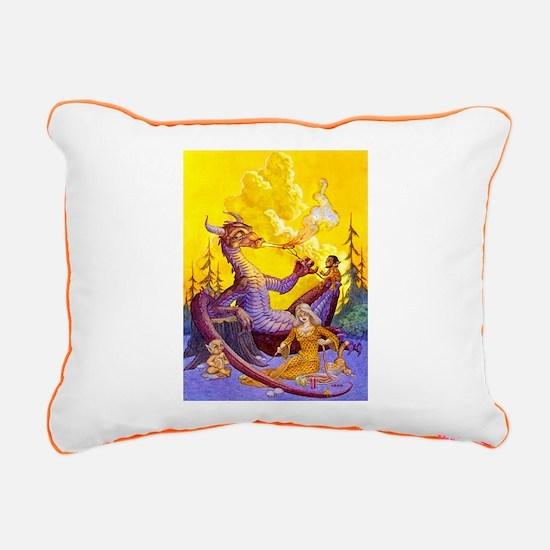 Dragon Cookout Rectangular Canvas Pillow