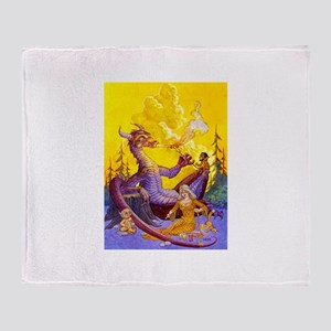 Dragon Cookout Throw Blanket