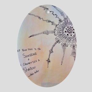 Sunshine Oval Ornament