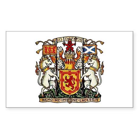 SCOTLAND COAT OF ARMS Rectangle Sticker