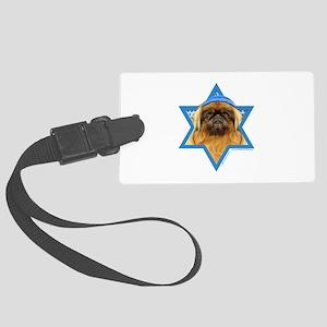 Hanukkah Star of David - Peke Large Luggage Tag
