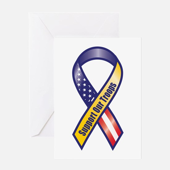 Support Our Troops - Ribbon Greeting Cards