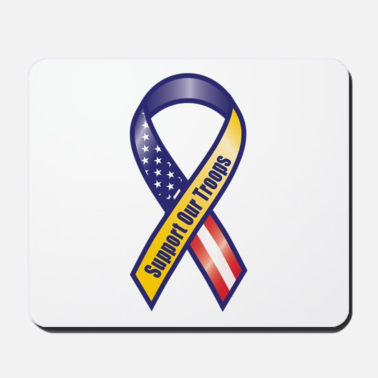 Support Our Troops - Ribbon Mousepad