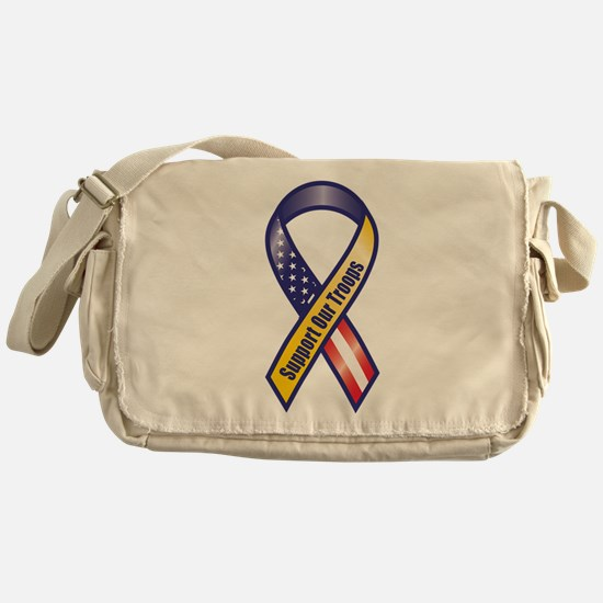 Support Our Troops - Ribbon Messenger Bag
