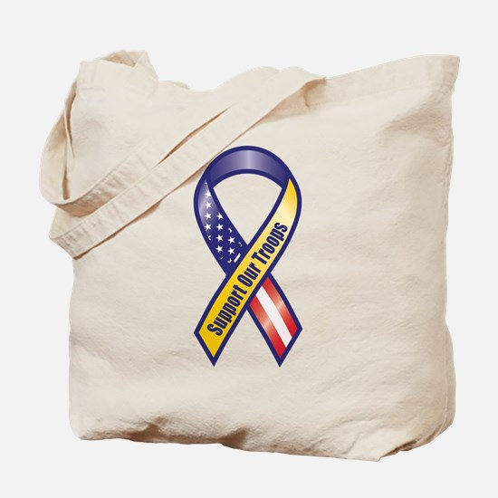 Support Our Troops - Ribbon Tote Bag