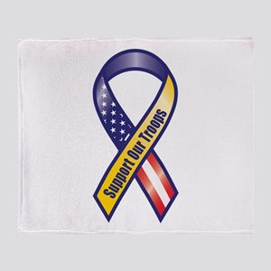 Support Our Troops - Ribbon Throw Blanket