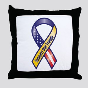 Support Our Troops - Ribbon Throw Pillow