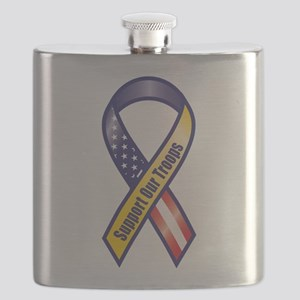 Support Our Troops - Ribbon Flask