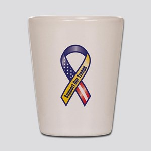 Support Our Troops - Ribbon Shot Glass