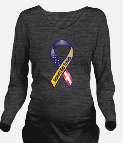 Support Our Troops - Ribbon Long Sleeve Maternity