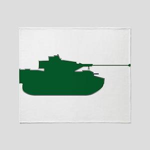 Tank - Army - Military Throw Blanket