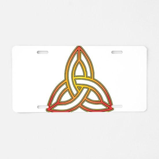 Triquetra - Trefoil Knot Aluminum License Plate