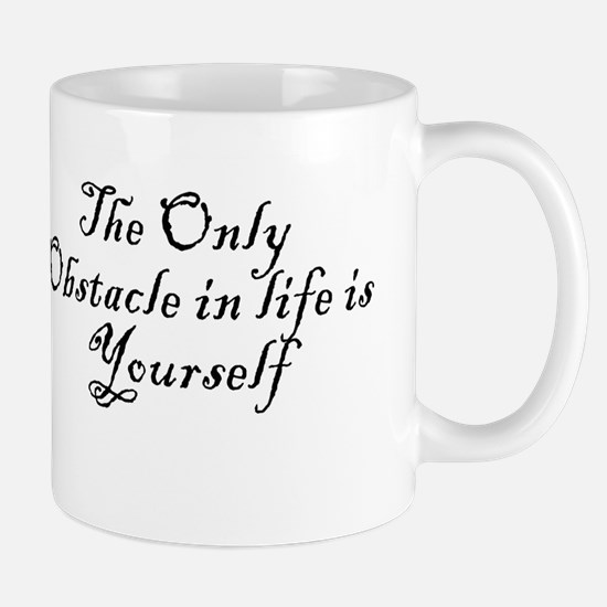 Obstacle Motivation Quote Coffee Mugs