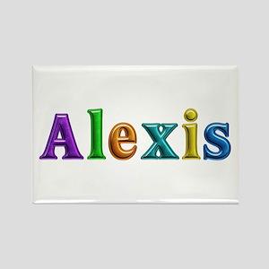 Alexis Shiny Colors Rectangle Magnet