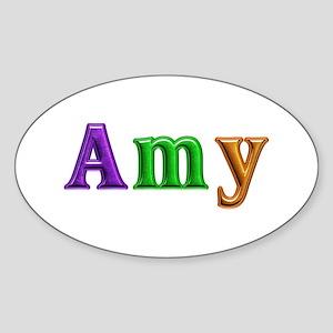 Amy Shiny Colors Oval Sticker