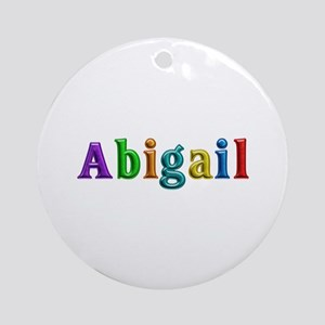 Abigail Shiny Colors Round Ornament