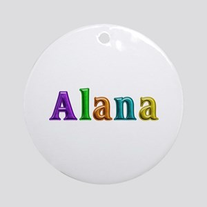 Alana Shiny Colors Round Ornament