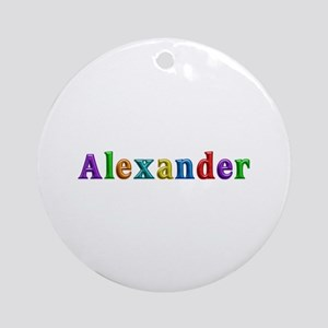 Alexander Shiny Colors Round Ornament