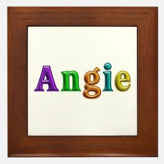 Angie Shiny Colors Framed Tile