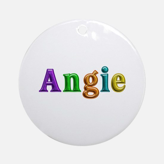 Angie Shiny Colors Round Ornament