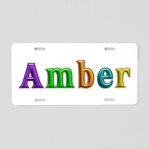 Amber Shiny Colors Aluminum License Plate