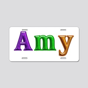 Amy Shiny Colors Aluminum License Plate