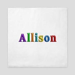 Allison Shiny Colors Queen Duvet