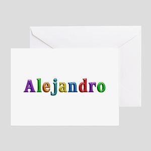 Alejandro Shiny Colors Greeting Card