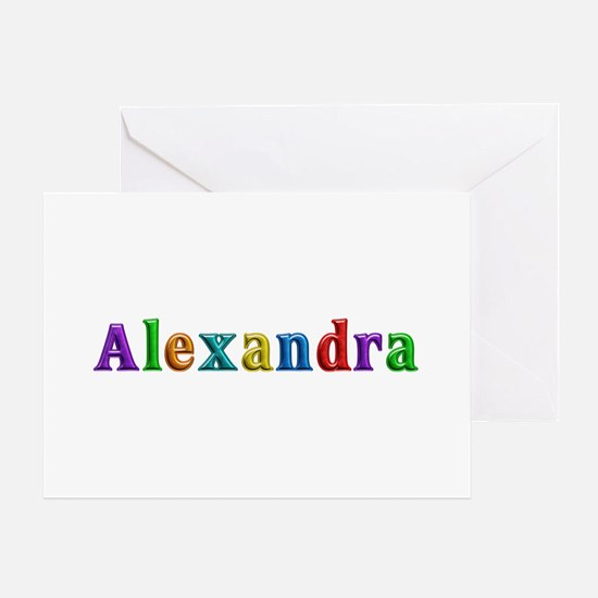 Alexandra Shiny Colors Greeting Card