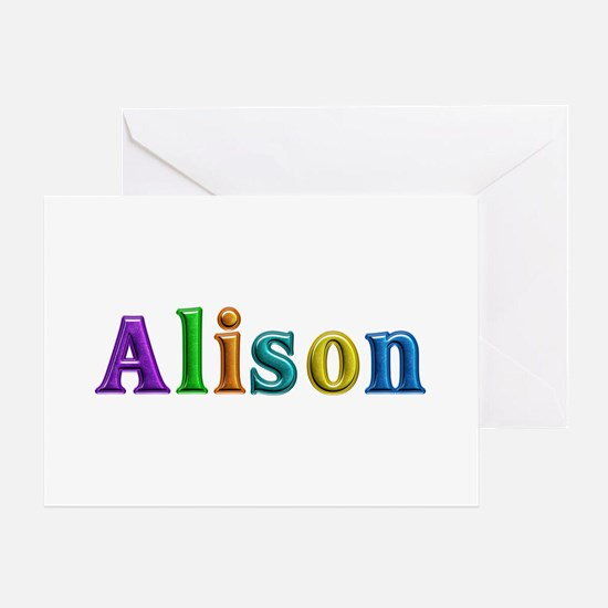 Alison Shiny Colors Greeting Card