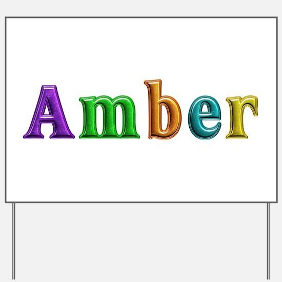 Amber Shiny Colors Yard Sign