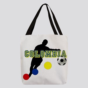 Columbia Soccer Player Polyester Tote Bag