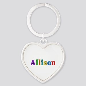 Allison Shiny Colors Heart Keychain