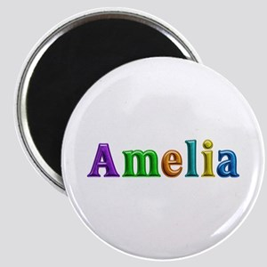 Amelia Shiny Colors Round Magnet