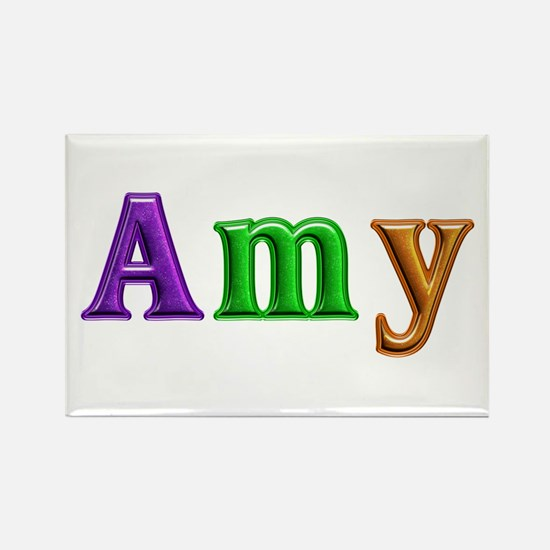 Amy Shiny Colors Rectangle Magnet 100 Pack