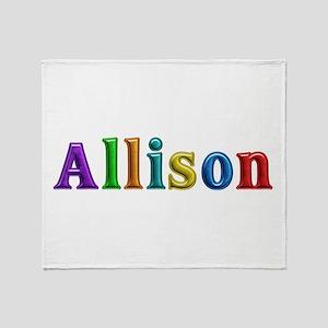 Allison Shiny Colors Throw Blanket