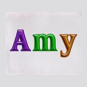 Amy Shiny Colors Throw Blanket