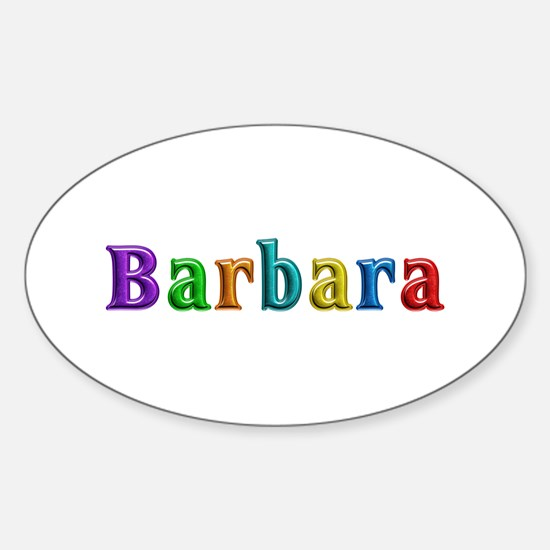 Barbara Shiny Colors Oval Decal