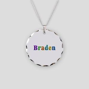 Braden Shiny Colors Necklace Circle Charm