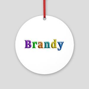Brandy Shiny Colors Round Ornament
