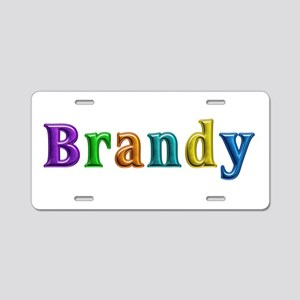 Brandy Shiny Colors Aluminum License Plate